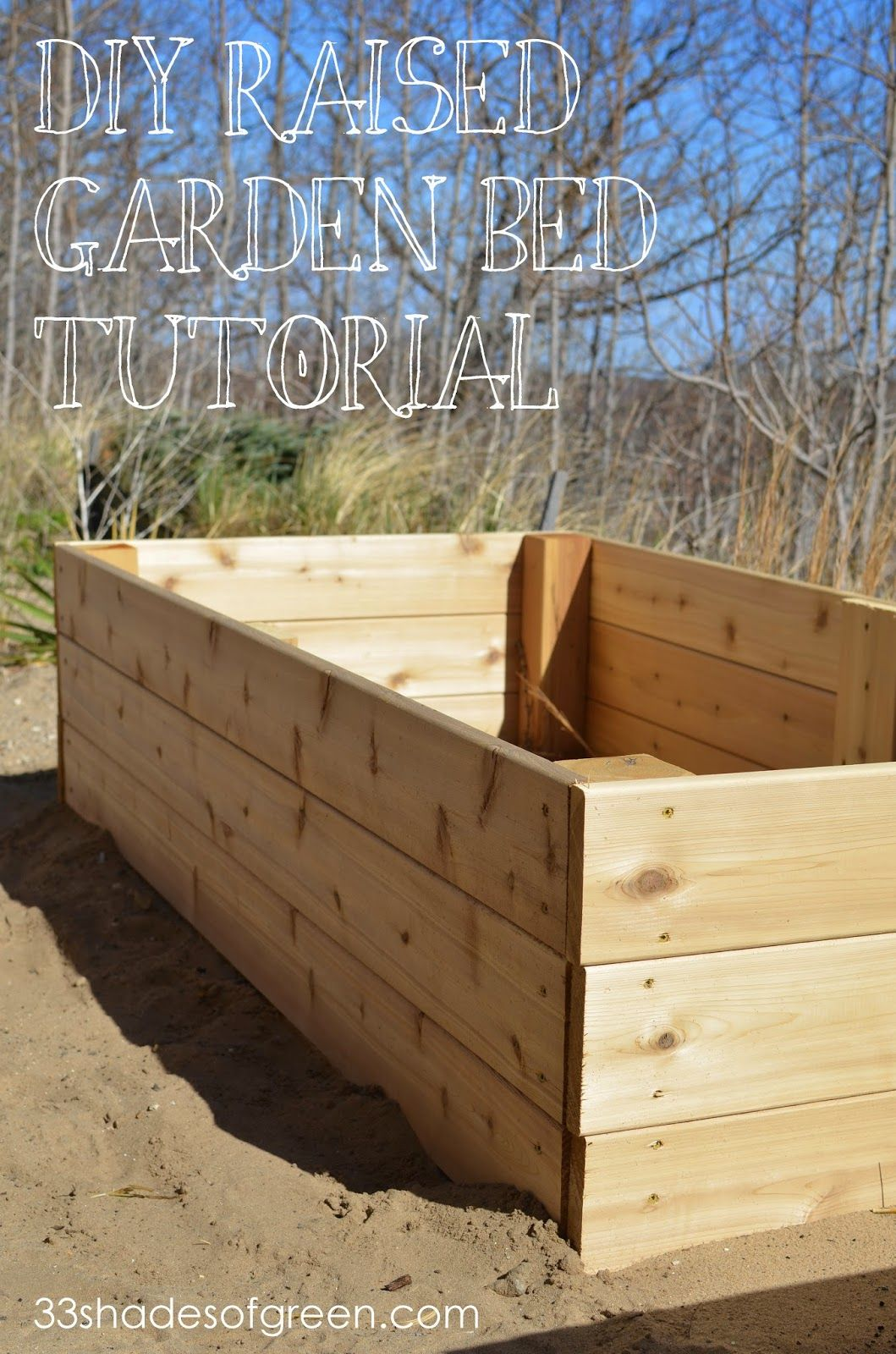 Easy DIY Raised Garden Bed Tutorial (33 Shades of Green) | Gardens ...