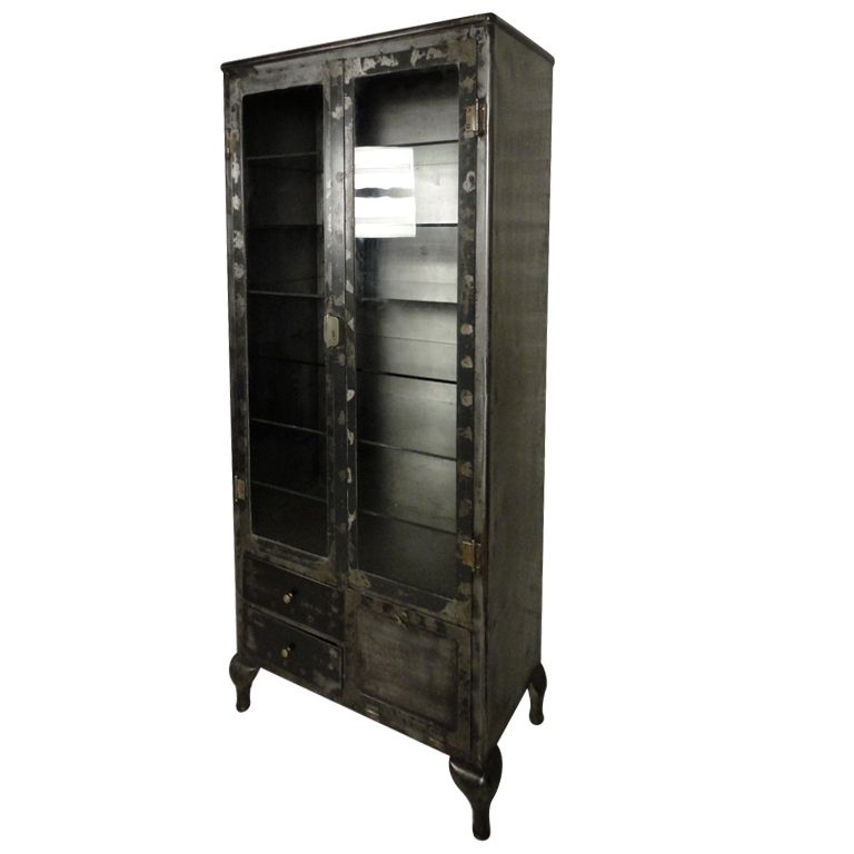 Vintage Industrial Display Storage Cabinet From A Unique Collection Of Antique And Modern Bookcases At Display Storage Industrial Display Vintage Industrial