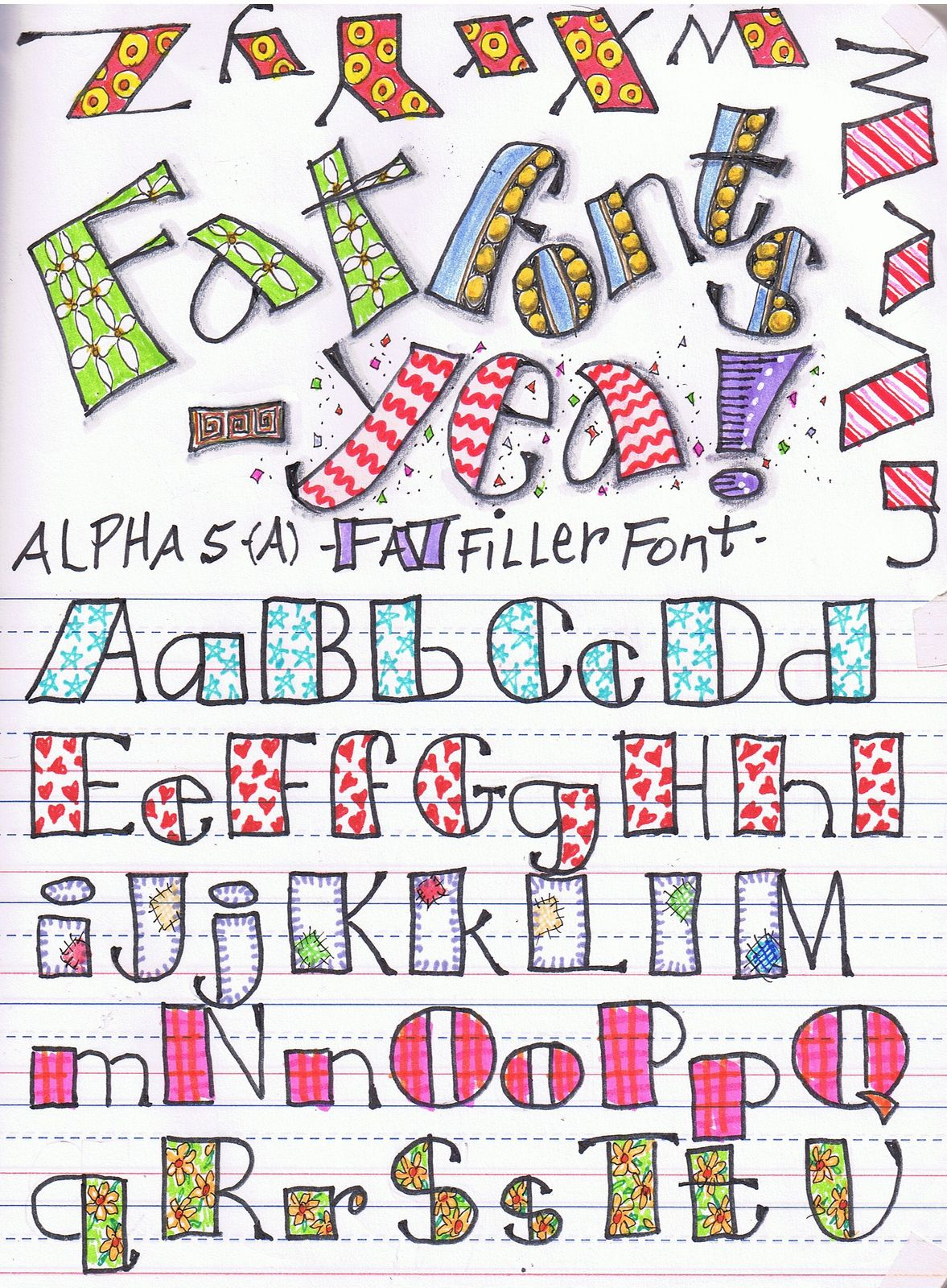 Alpha  Fat  Fat Letters And Spaces