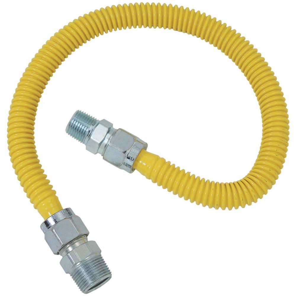 Brasscraft Gas Range And Gas Furnace Flex Line 5 8 In O D 3 4 In Mip X 1 2 In Mip X 36 In Cssc14 36 Brass