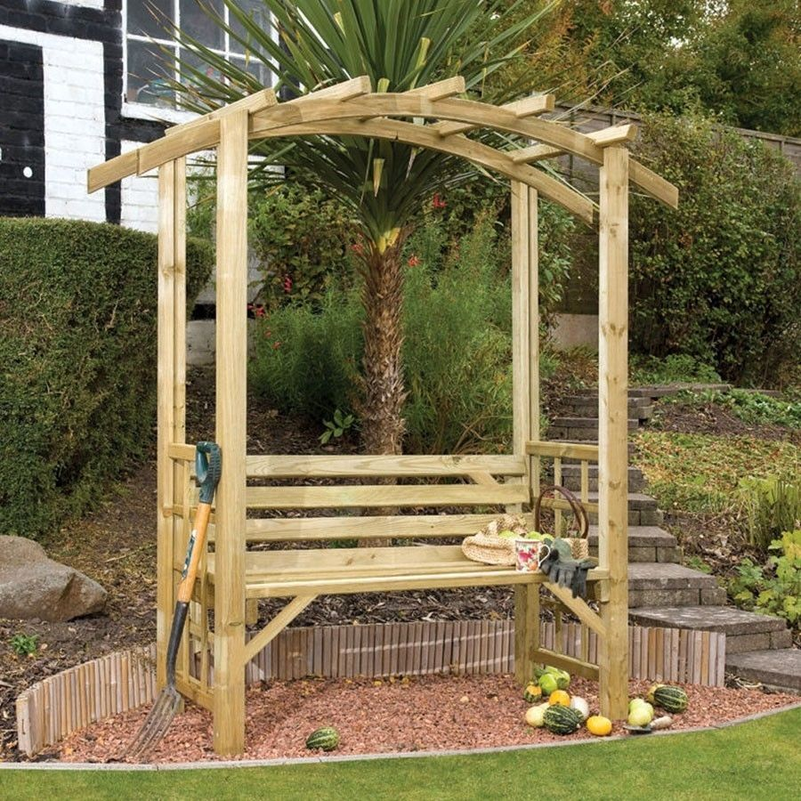 Pin By Jane Kaylor On Stuff To Buy Wooden Garden Gazebo Wooden Garden Garden Arbour Seat