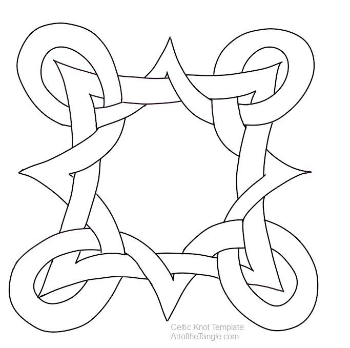 Celtic knot templates celtic knots template and patterns celtic knot template 12 pronofoot35fo Image collections