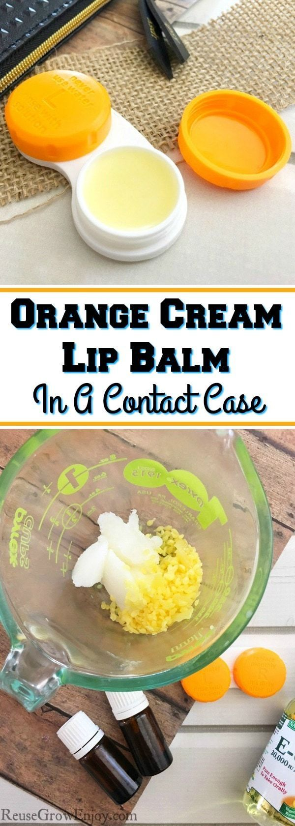 One great way to reuse extra contact cases is for lip balm You can