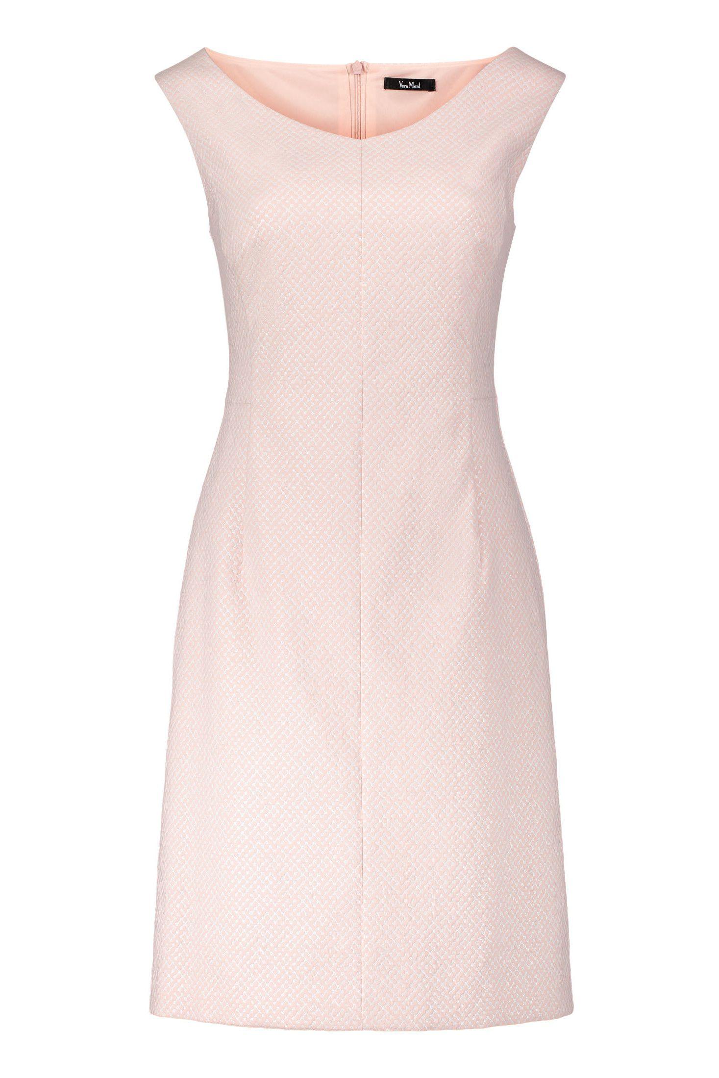Etuikleid Altrosa Silberschimmer Vera Mont Mode Bosckens Mit Bildern Etuikleid Modestil Kleider