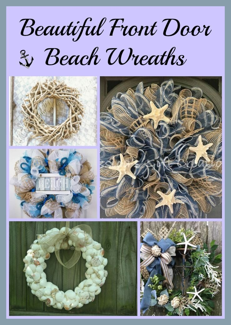 simple nature coastal wreath fall doors decor front door wreaths
