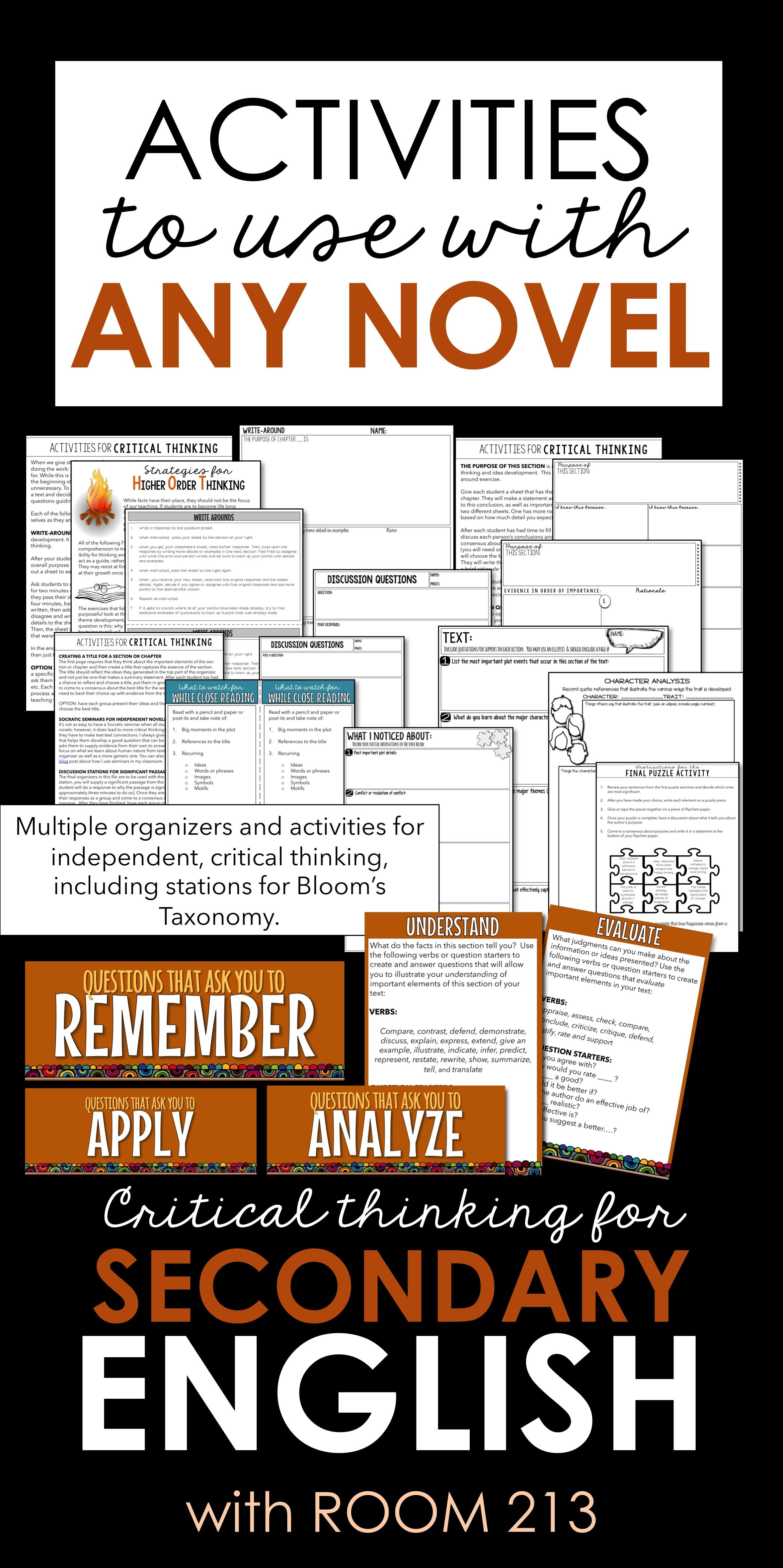 Higher Order Thinking Activities That Can Be Used With Any