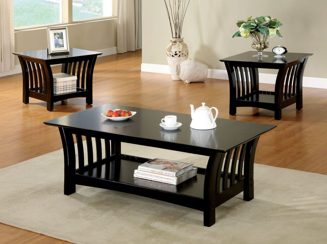 Cm41463Pk Coffee Table With 2 End Tables 3Pc.Set Milford