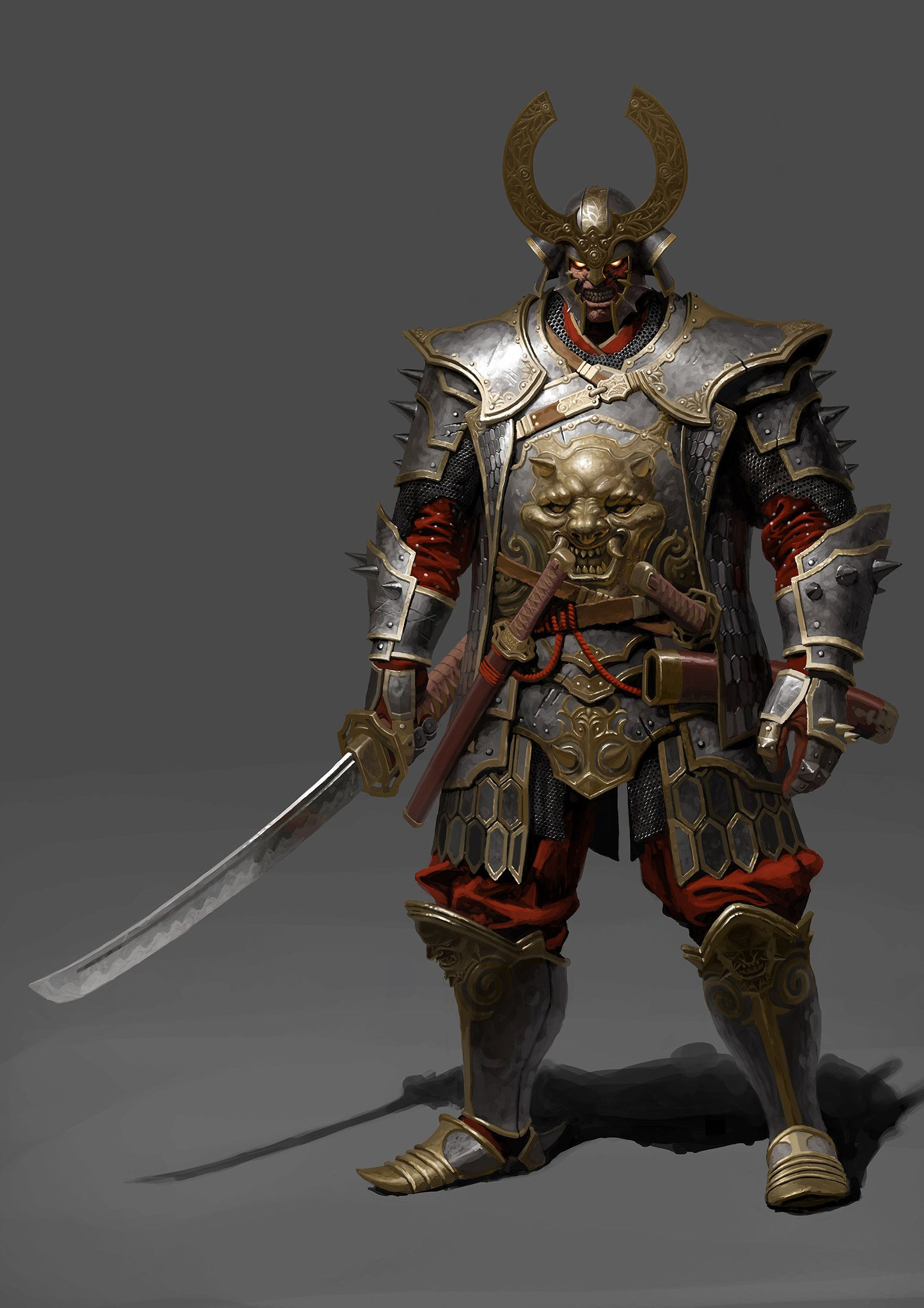 Samurai , Evgeniy Petlya on ArtStation at https://www