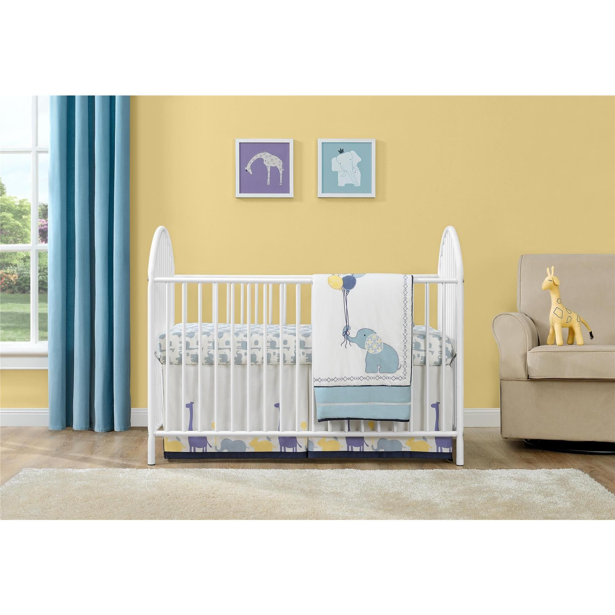 Ameriwood Home Adjustable White Metal Crib by Cosco (Metal Crib ...
