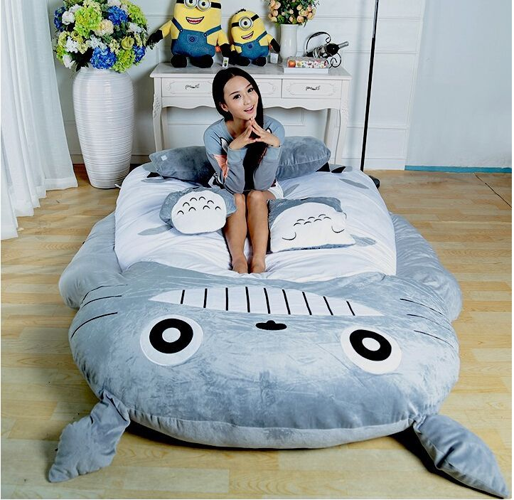 Cheap Bedding Bed Linen Buy Quality Support Directly From China Plant Suppliers Hot Sell Totoro Double Cushion Sleeping Bag Huge Cute