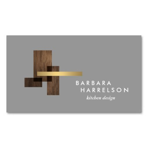 Mid Century Modern Architectural Logo Ii On Ltgray Business Card