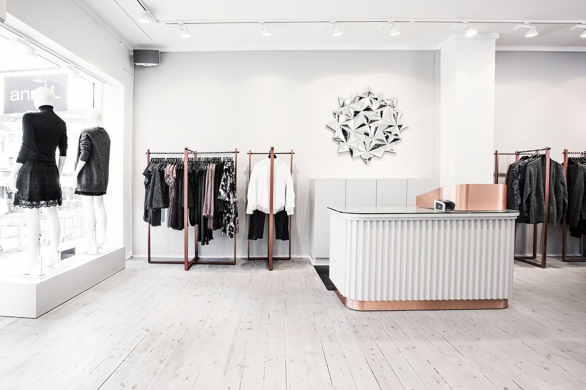 Helle Flou designed the interior for the new clothing shop AnnL in