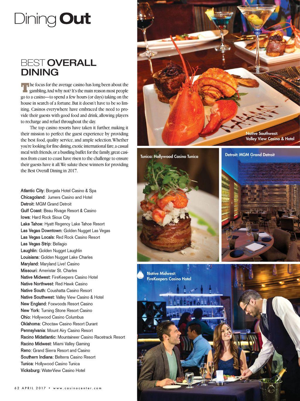 Both Lu0027Auberge Casino Resort And Golden Nugget Lake Charles Are Named U0027BEST  DININGu0027 By Casino Player Magazine.
