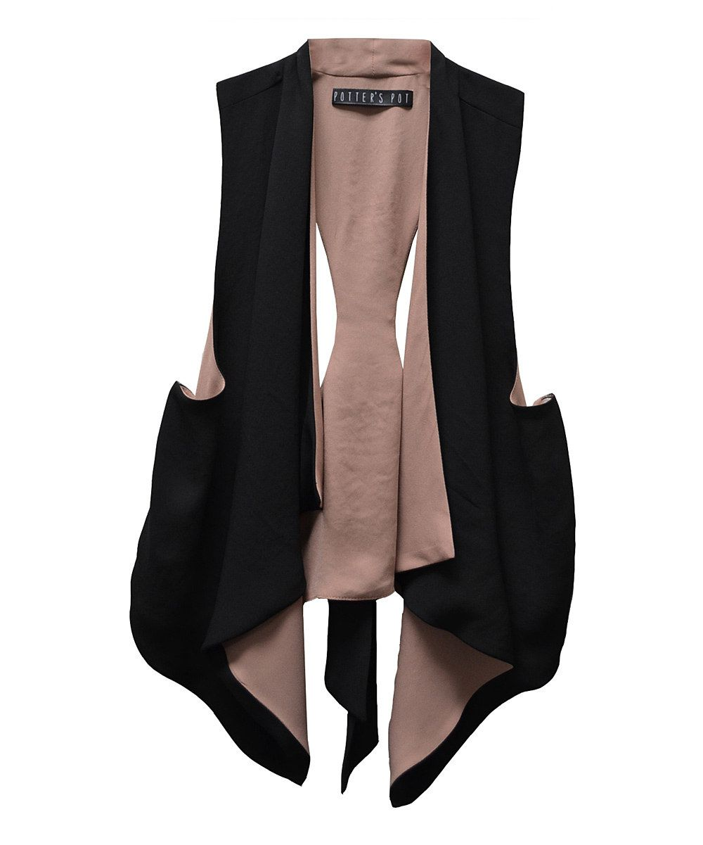 This Rose Tie Racerback Drape Vest by Potter's Pot is perfect! #zulilyfinds