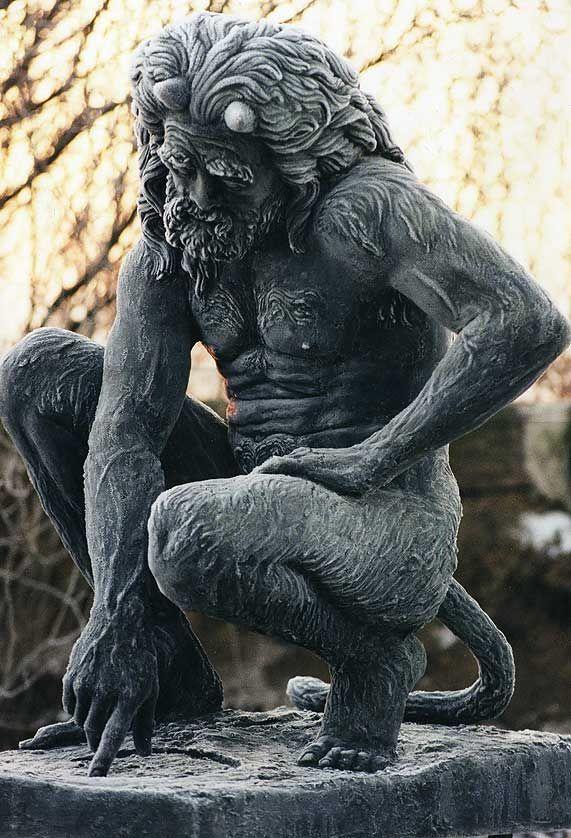 statuemania:  Faun Im Raureif by Bernd Streiter, 1996.