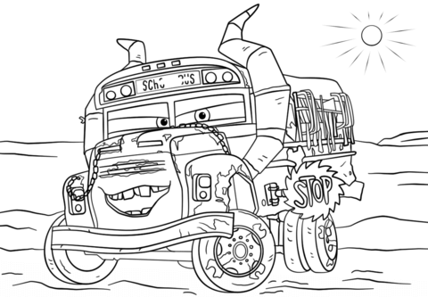 Miss Fritter from Cars 11 coloring page from Disney Cars category ...