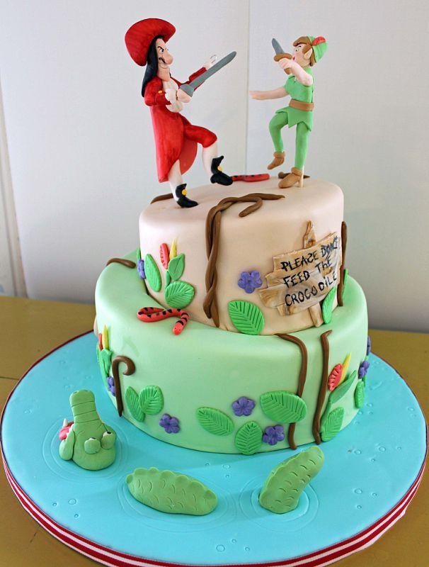 peter pan and captain hook   cake   pinterest   peter pan