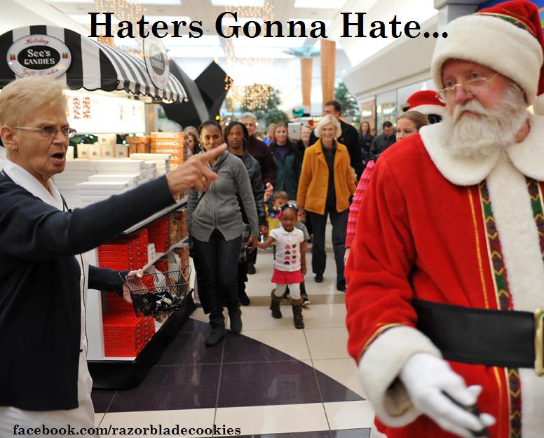 2d0ee356d7fac680f6ee3682011d0760 haters gonna hate facebook com razorbladecookies haters,Funny Santa Memes