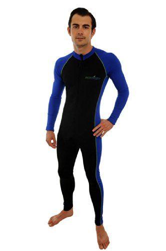 899e03136bde5 Adults Sun Protective Full Body Stinger Swimsuit L Black Royal Lime stitch  EcoStinger http
