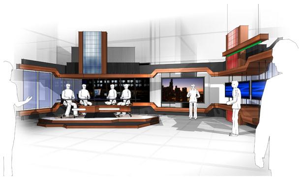 Set design y tv set design stage design virtual studio - Virtual living room design ...