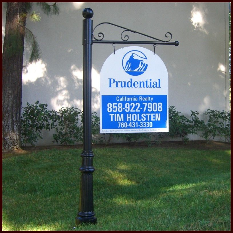 Real Estate Signs Outdoor Business Signage Real Estate Sign Post