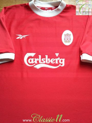 44774c6f Relive Liverpool 1998/1999 season with this vintage Reebok home football  shirt.