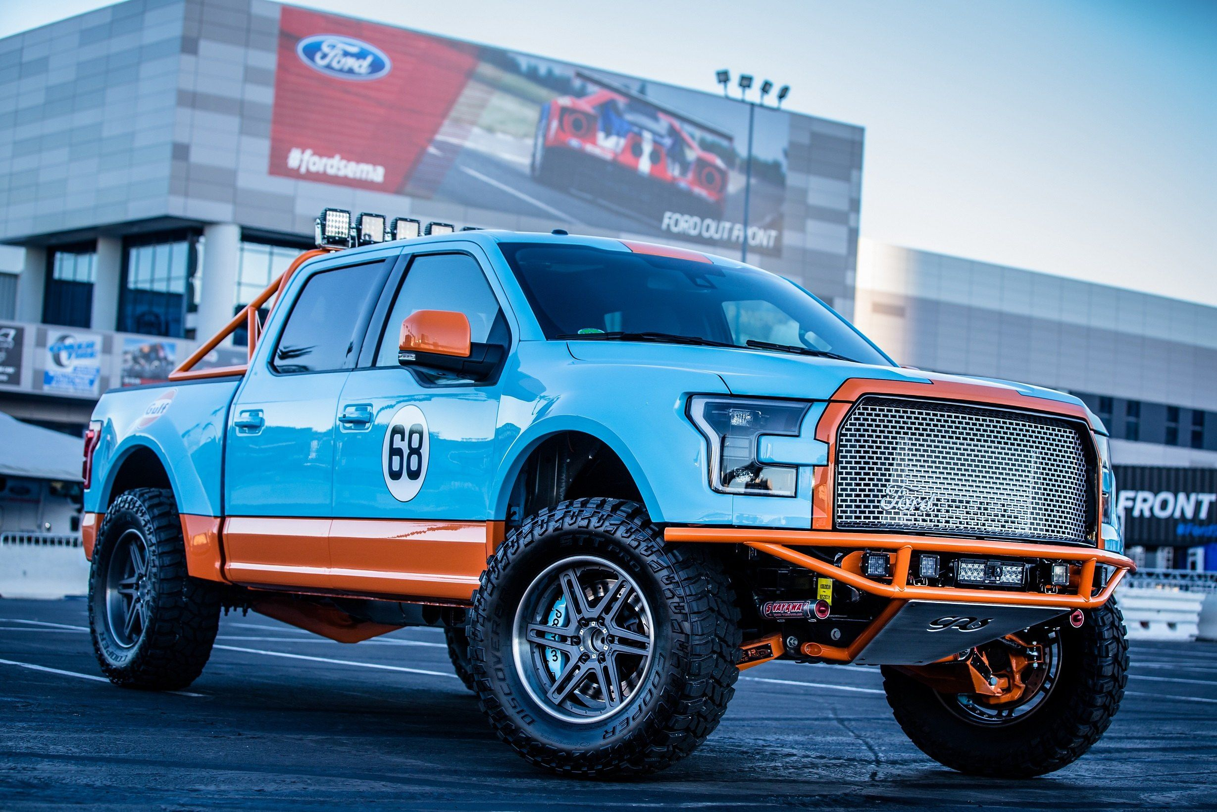 Gulf Racing Livery On Ford F150 Truck With Adv 1 Wheels With