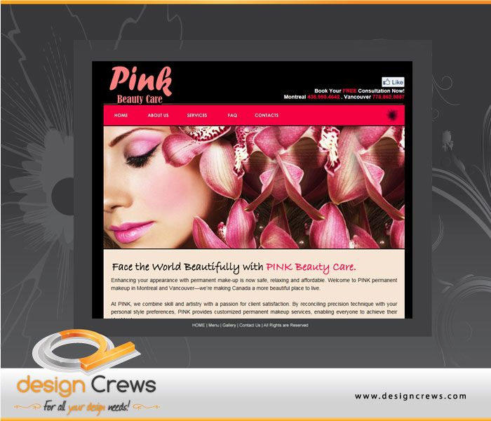 Pink Surrey Web Design Design Layout Layout Design Design Beautiful Places To Live
