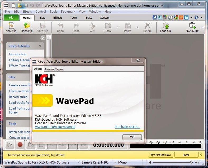hackinggprsforallnetwork: WavePad Sound Editor Master's Edition v5