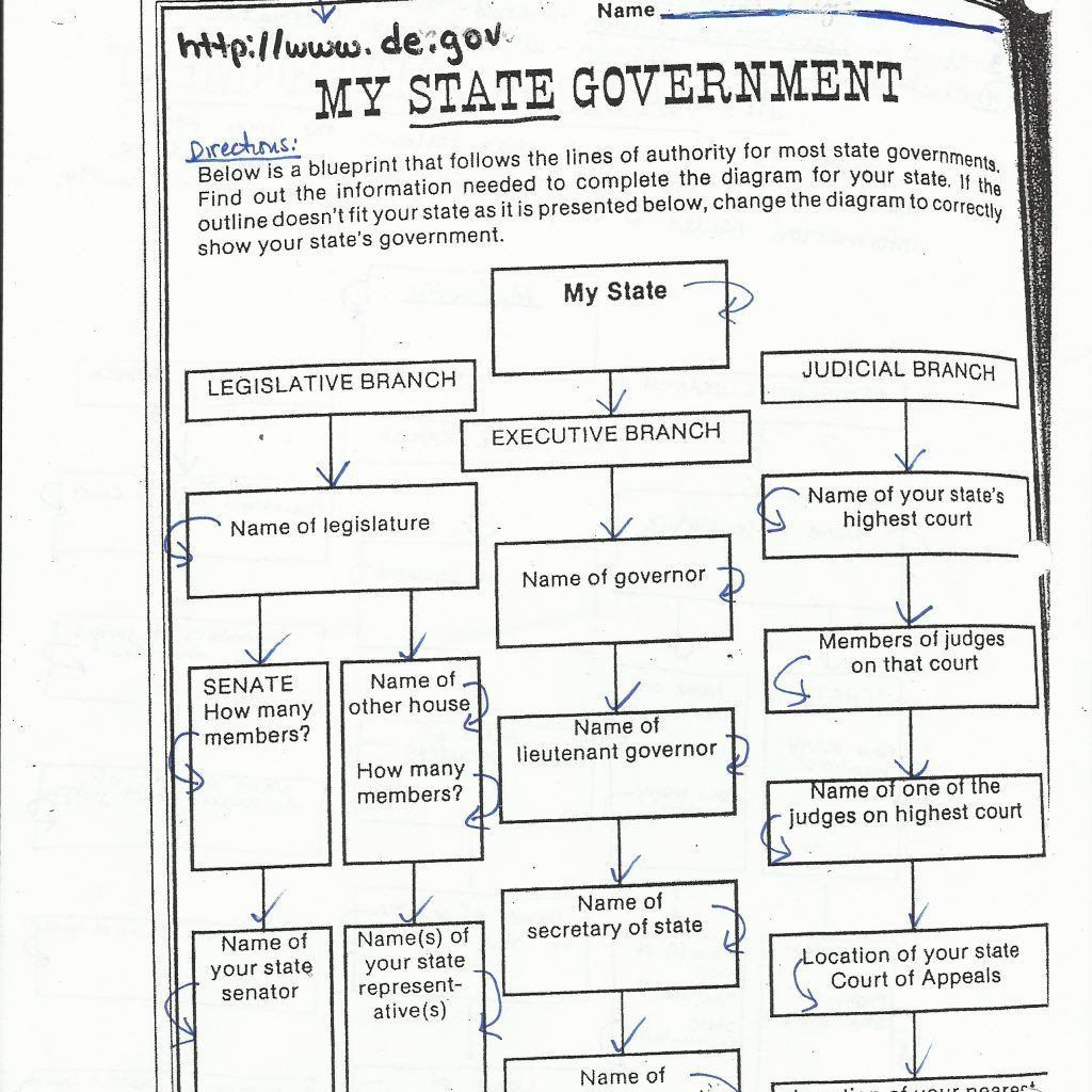The Judicial Branch Worksheet Seven Principles Government