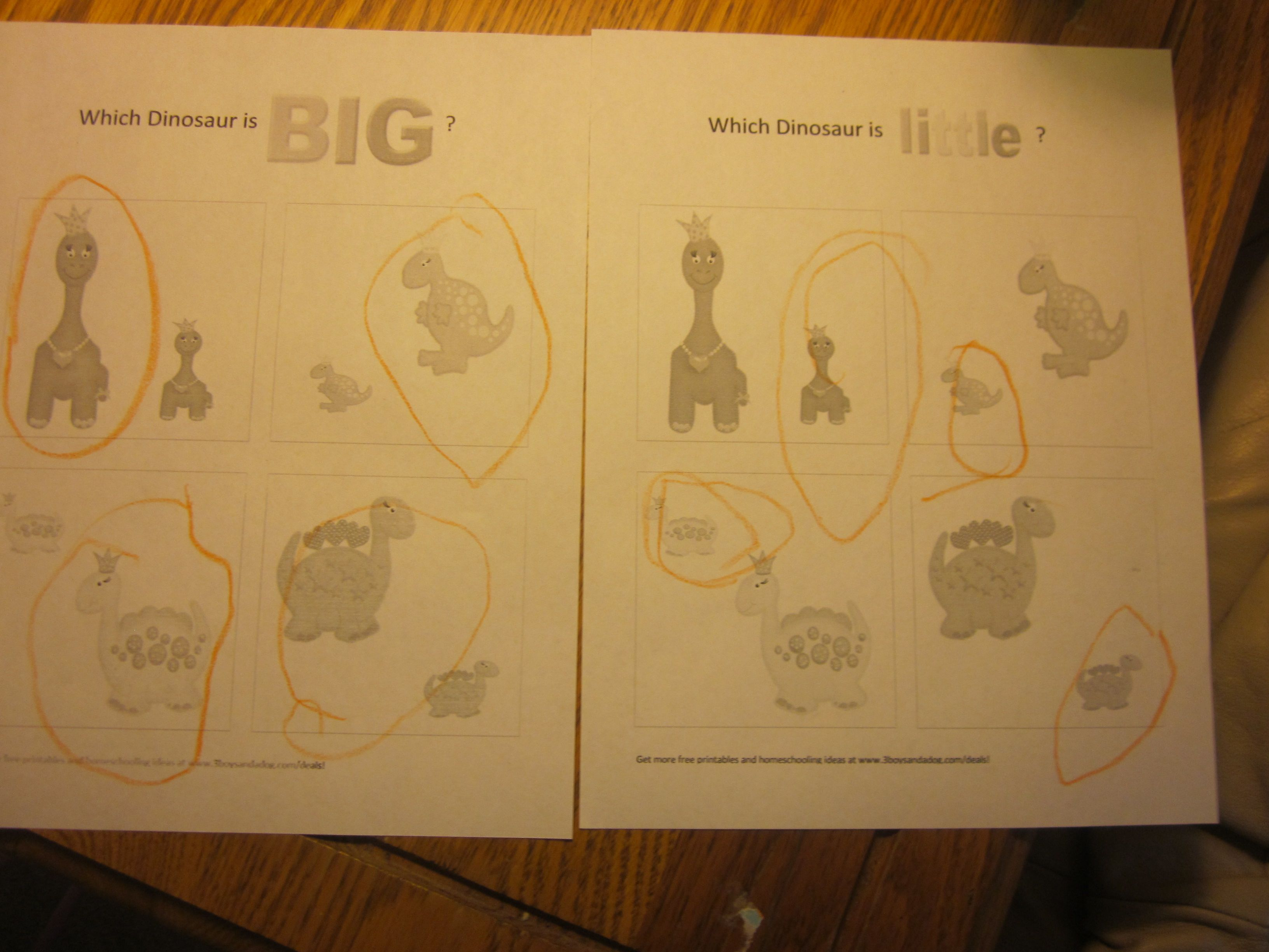 Big And Little Preschool Lesson Free Printables