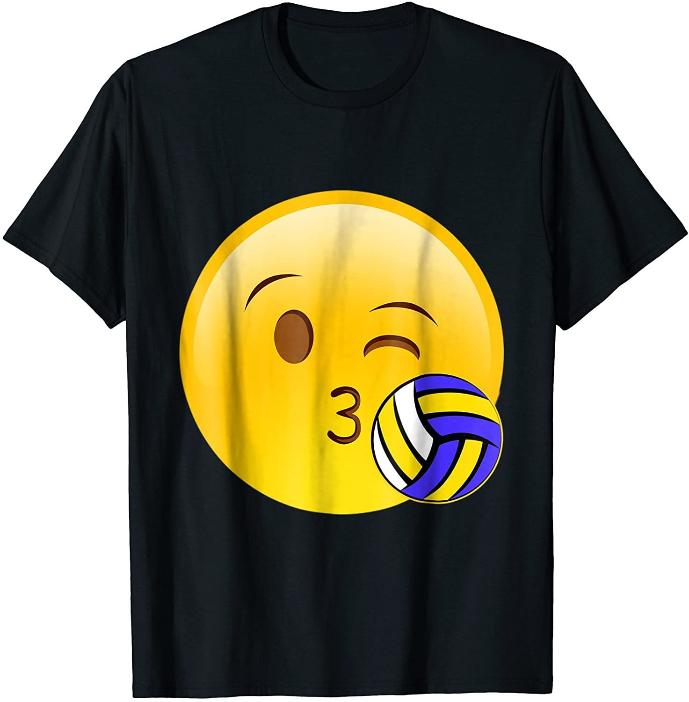 Emoji Kiss Volleyball Funny Cute Sport Tournament T Shirt In 2020 Volleyball Humor Sports Tournaments Funny Cute