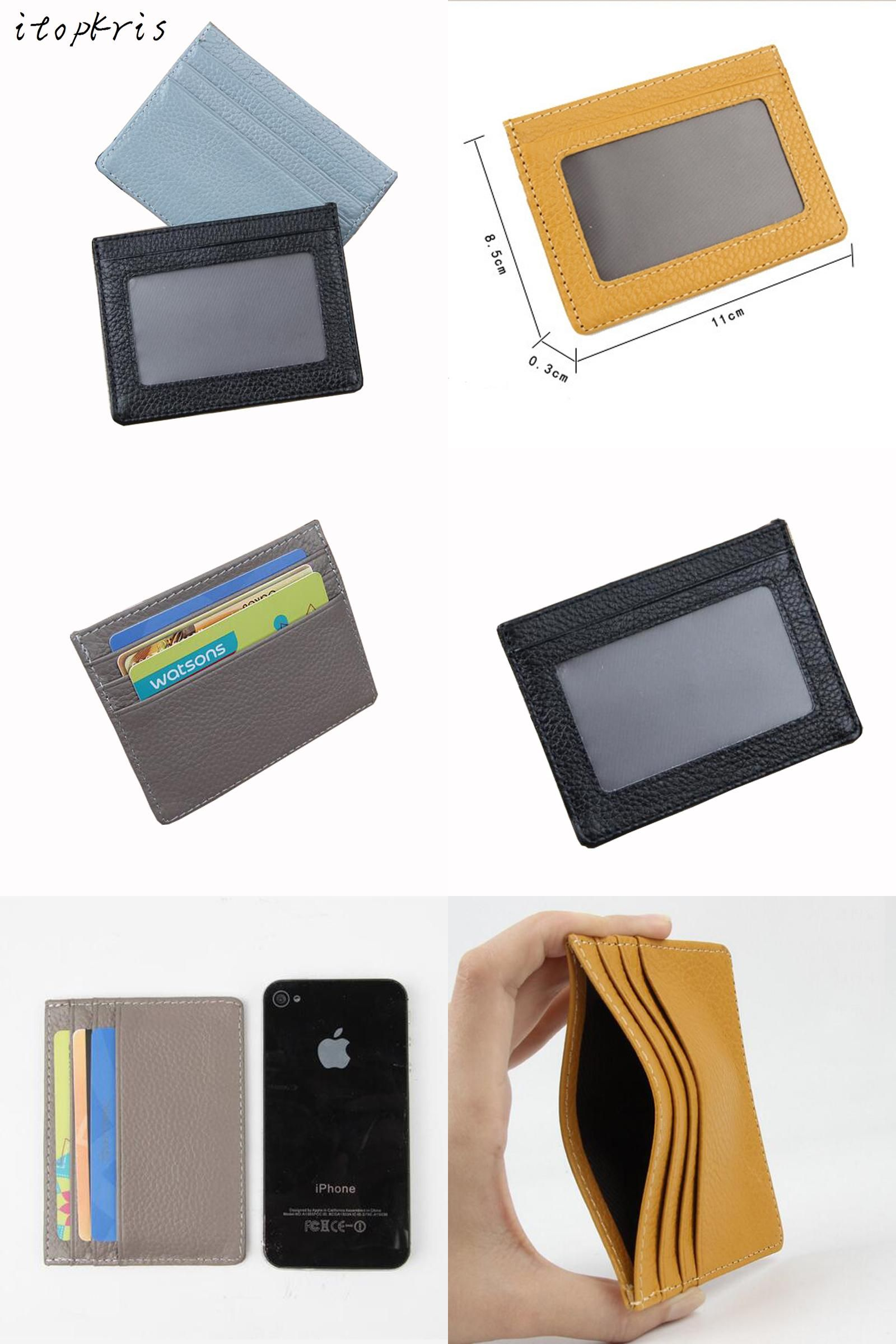 Visit To Buy Fashion Business Card Wallet Women Id Credit Card