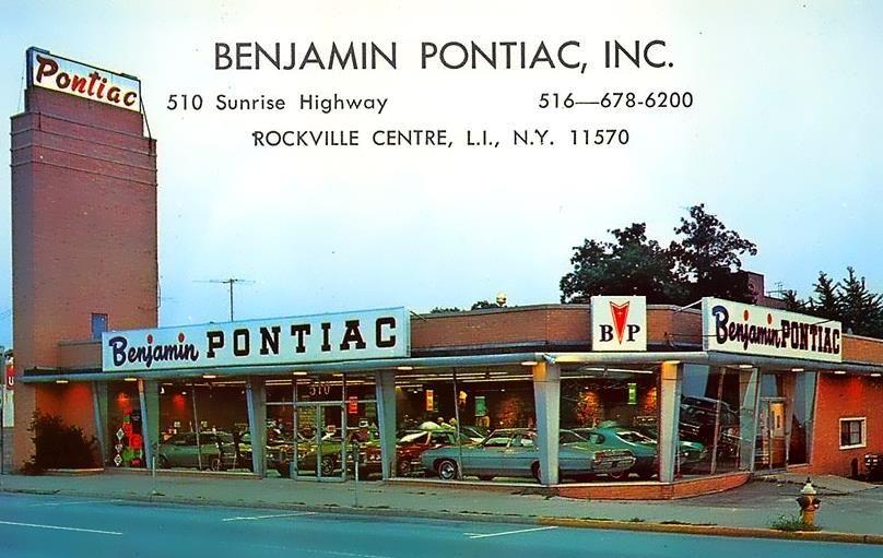 Benjamin Pontiac Rockville Centre, NY Vintage
