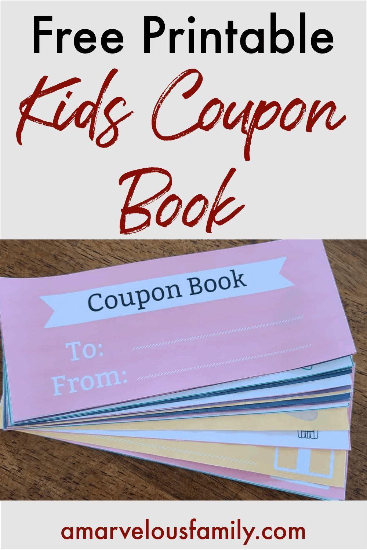 Free Printable Kids Coupon Book Printable Coupon Book Coupon Book Valentines Coupon Book