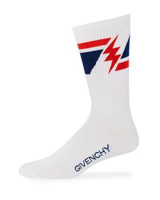 Givenchy Men S Geometric Lightning Bolt Socks