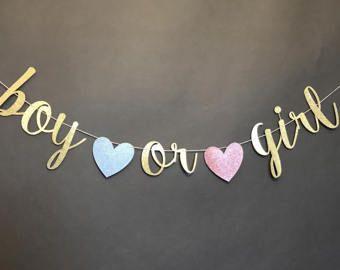 Baby Shower Glitter Gold Letter Banner Balloon Gender Reveal Hanging Party Decor