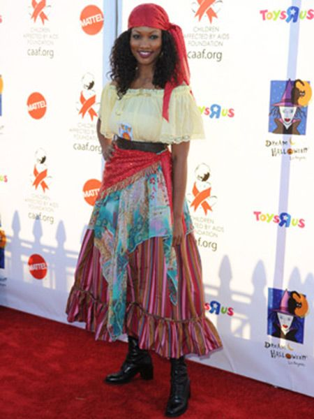 Garcelle Beauvais Celebrity Gypsy Halloween Costume In