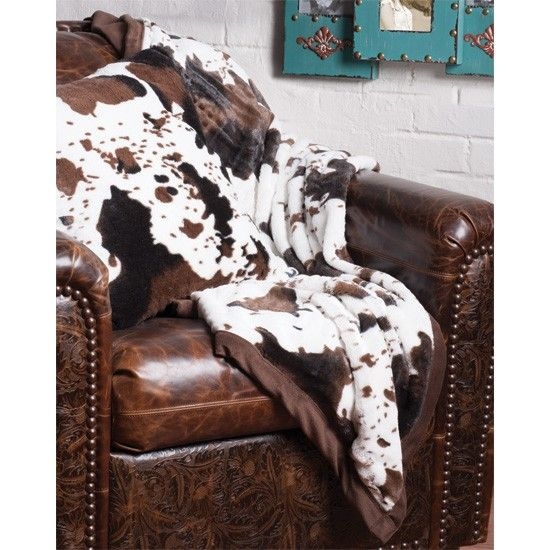 Cowhide Throw And Pillow The Softest Blanket To Snuggle Up In