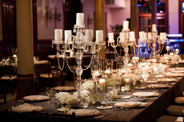 Wedding Reception Table Candles Dinner Tablescape Scape Amanda John Ware Candlelightophisticated