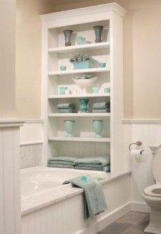 Great Idea For Extra Storage Traditional Bathroom Home Small