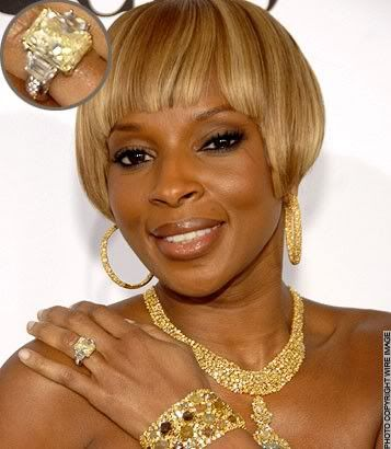 Mary J. Blige's wedding ring and jewelry