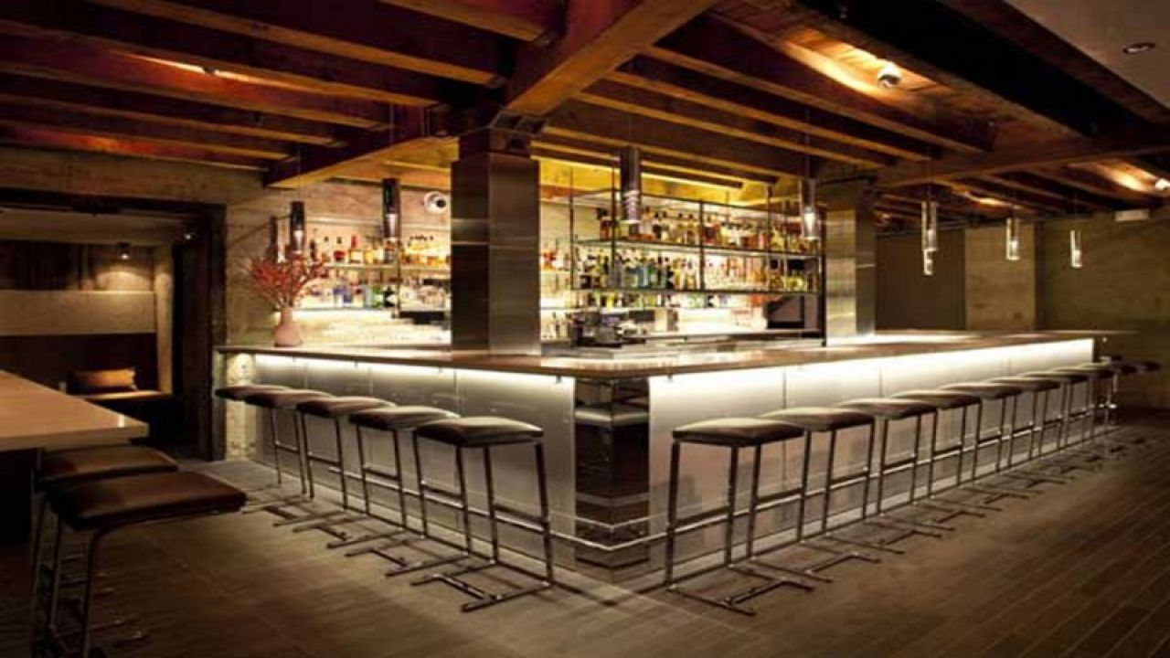 Modern restaurant bar design small restaurant design ideas for Wooden bar design