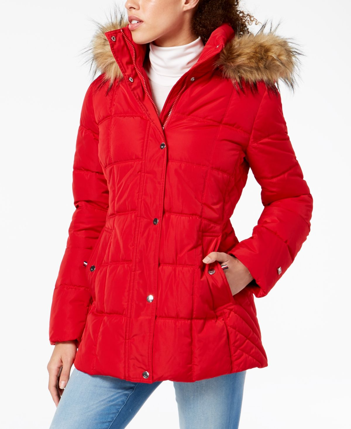Tommy Hilfiger Hooded Faux Fur Trim Puffer Coat Created For Macy S Reviews Coats Women Macy S Hooded Faux Puffer Coat Coats For Women [ 1466 x 1200 Pixel ]