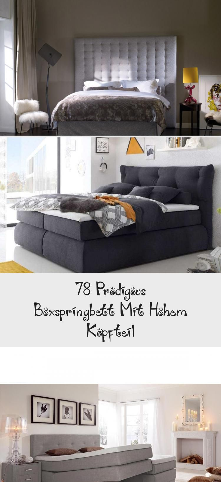 78 Prodigous Boxspringbett Mit Hohem Kopfteil Boxspringbett Bett Moderne Schlafzimmermobel