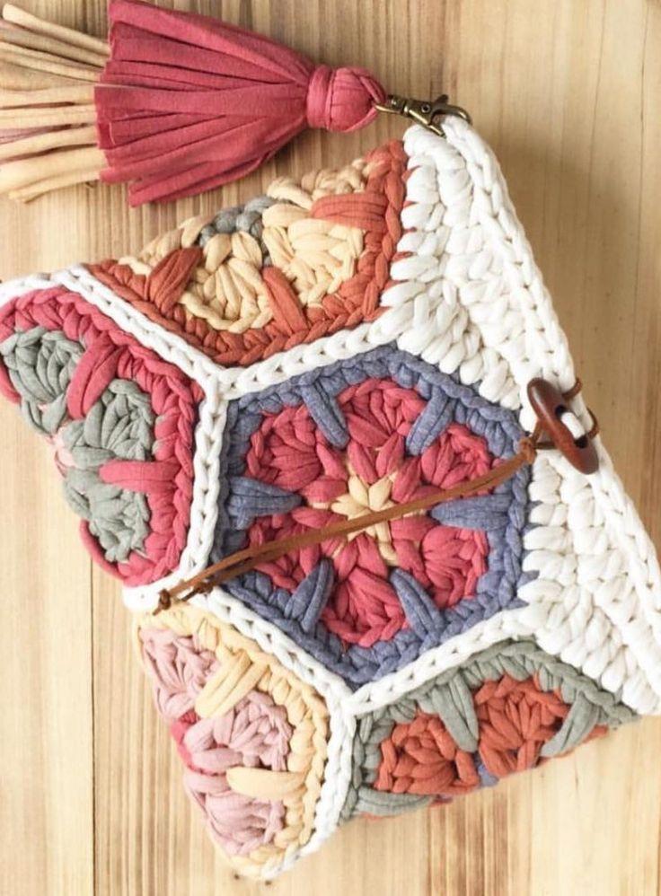 39+ ideas y fotos lindas de diseño de patrones de bolsas sin ganchillo – nuevas ideas