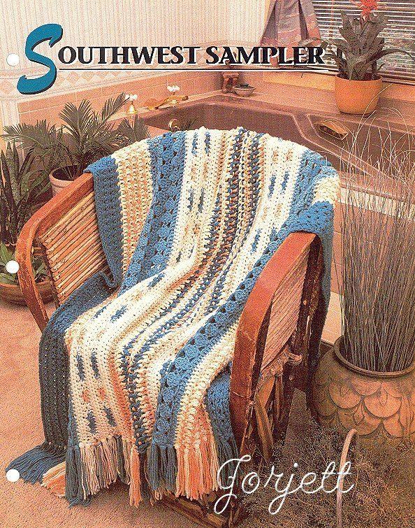Southwest Sampler Afghan Annies Crochet Pattern Afghans Crochet