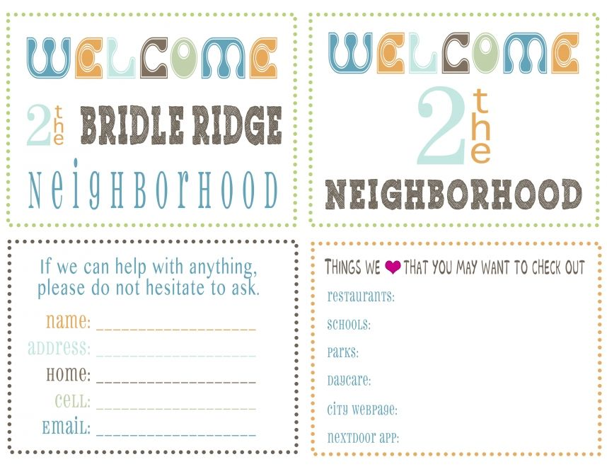 photograph about Welcome to the Neighborhood Printable referred to as Welcome fresh new neighbors Conserve and Print for specific seek the services of simply