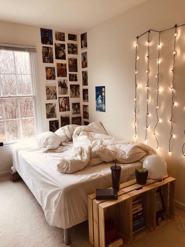 Interior Dorm Room Decor Small Room Bedroom Aesthetic Bedroom