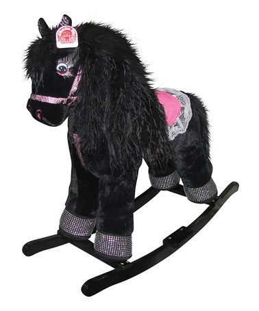Look what I found on #zulily! Black Princess Sophia Rocking Horse #zulilyfinds